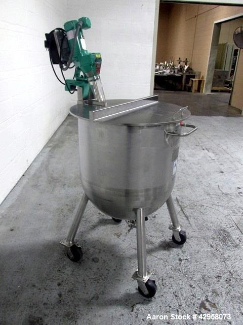 "Used- Precision Stainless Tank, 200 Liter (52.8 Gallon). 316L Stainless steel construction, approximately 27"" diameter x 18""..."