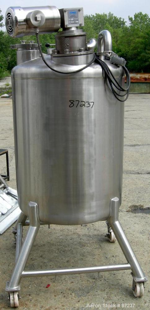 "USED: Precision stainless tank, 100 gallon, 316 stainless steel, vertical. 32"" diameter x 40"" straight side, dished top and ..."