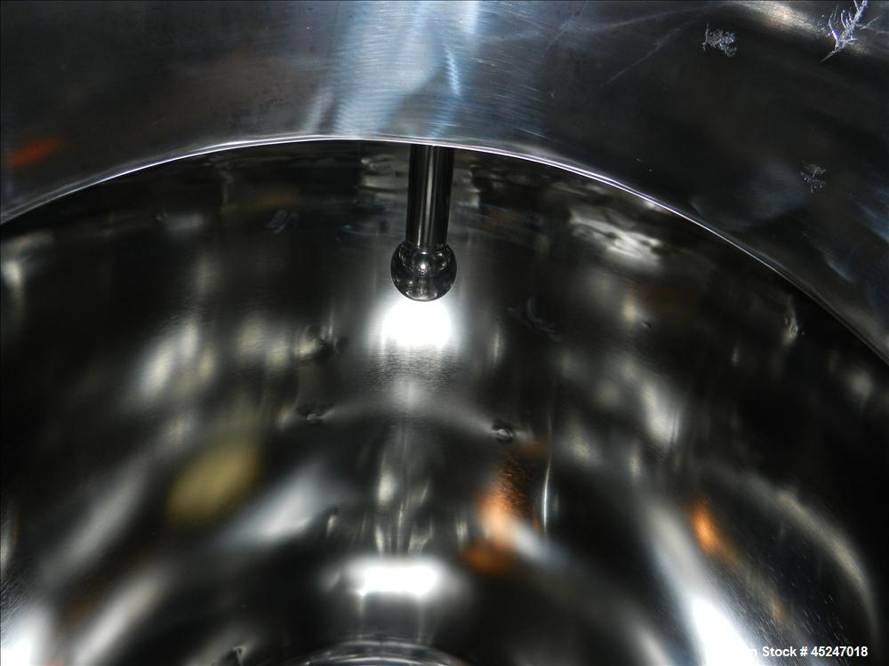 Used- 200 Gallon Stainless Steel Pure-Flo Precision Tank, Model MBI410H37
