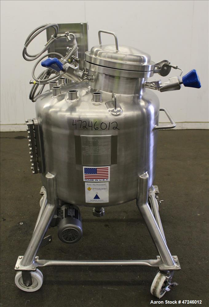 Used- Pure-Flo Precision Pressure Tank, 150 liter (39.6 Gallons), 316L Stainless