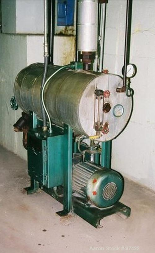 USED: Roth 350 deg F high pressure condensate transfer station. Includes tank, level controls, 10 hp pump.