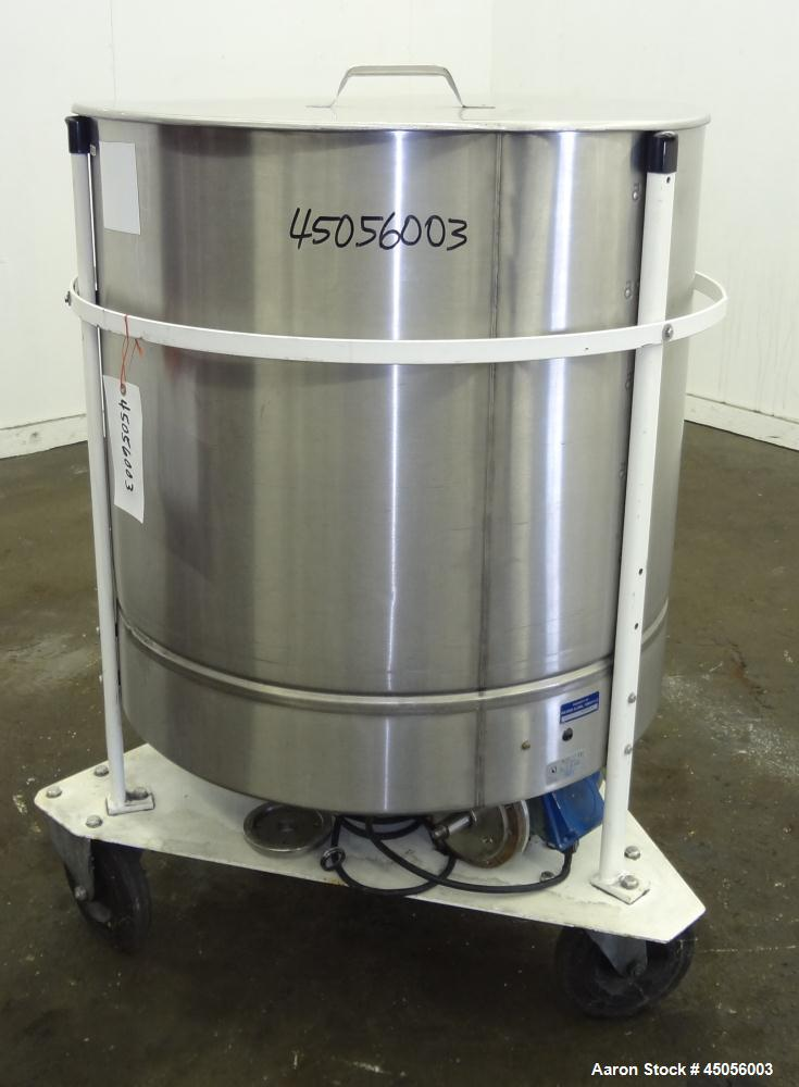 Used- 300 Liter Stainless Steel M.J.S. Tank