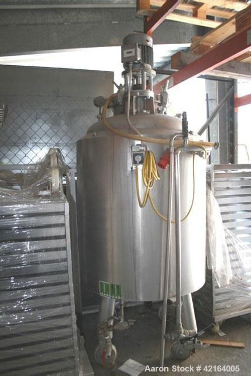 Used-Seitz GP Pressure Tank, stainless steel, jacketed. 133.7 gallon (506 liter) capacity, tank pressure 43.5 psi (3 bar), j...