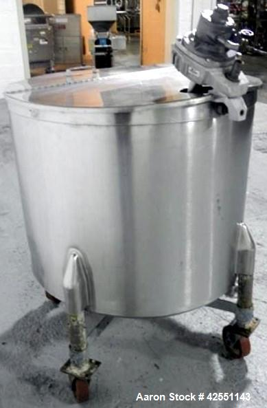 Used- 100 Gallon Stainless steel Stapco Tank, Model 100OV