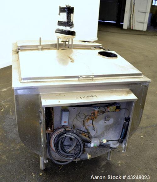 """Used- Sunset Milk Cooler Tank, 210 Gallon, Model MC-210PX, 304 Stainless Steel, Horizontal. Approximate 36"""" wide x 58"""" long ..."""