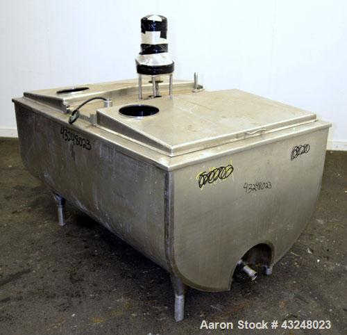 "Used- Sunset Milk Cooler Tank, 210 Gallon, Model MC-210PX, 304 Stainless Steel, Horizontal. Approximate 36"" wide x 58"" long ..."