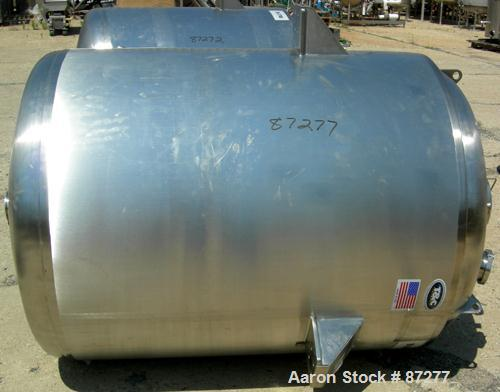 """USED: T&C stainless pressure tank, 1000 liter (264 gallon), 316L stainless steel, vertical. 40"""" diameter x 48"""" straight side..."""