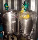 Used- Tank, 50 Gallon, Stainless Steel. Approximately 26