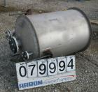 USED: Tank, 125 gallon, stainless steel, vertical. 30