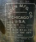 USED: Groen Pressure Tank, 60 gallon, 316 stainless steel, vertical. 24