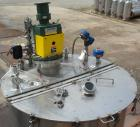 Used- Tank, 440 Gallon, 304 Stainless Steel, Vertical. 48