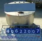 Used- Tank, approximate 70 gallon, 316 stainless steel, vertical. Approximate 37