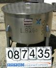 USED: Perma San tank, 80 gallon, 316 stainless steel, vertical. 36