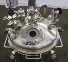 Used- Stainless Fabrication Pressure Tank, 22.5 Gallon (85 Liter), 316L Stainless Steel, Vertical. 18