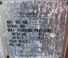 Used- Vesselcraft pressure tank, 100 gallon, stainless steel, vertical. 36