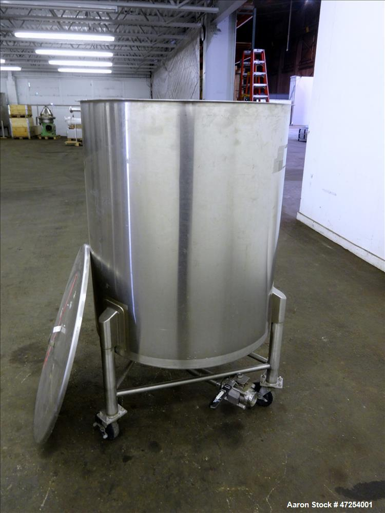 Used- Valley Stainless Tank, Approximate 125 Gallons, 304 Stainless Steel, Verti