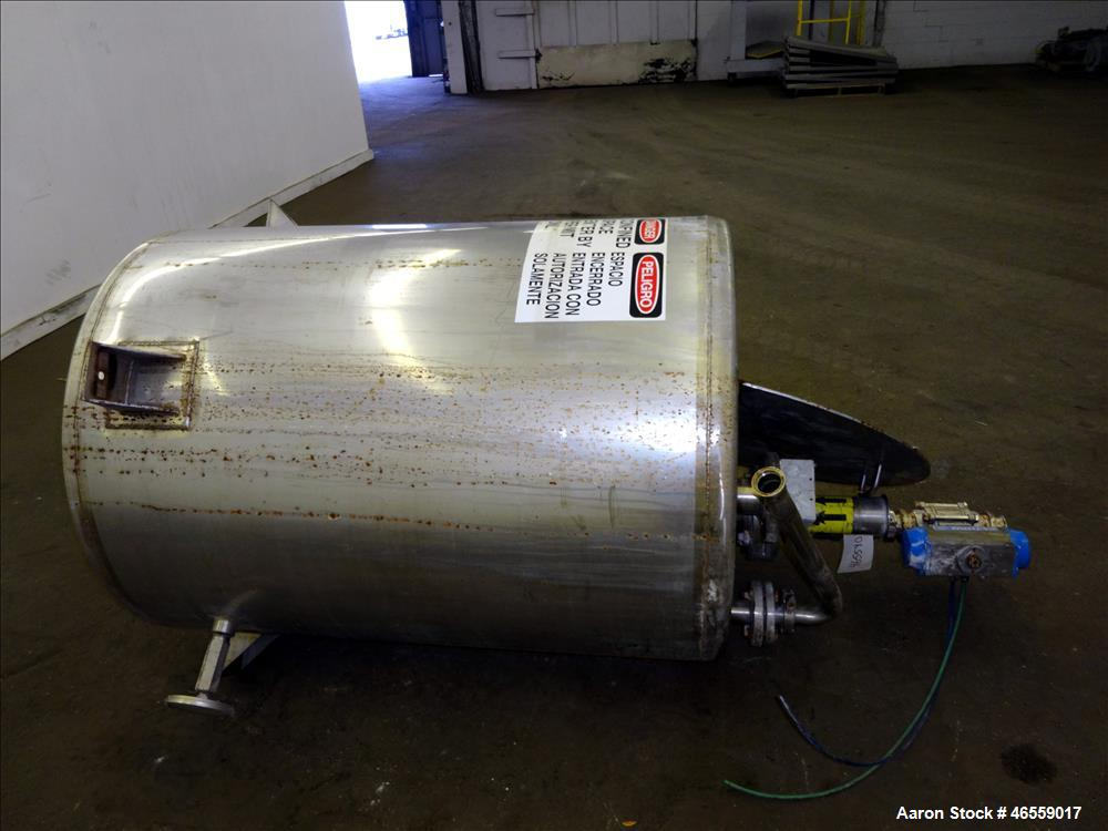 "Used- Vendome Tank, Approximate 200 Gallon, 316 Stainless Steel, Vertical. Approximate 36"" diameter x 44"" straight side. Wel..."