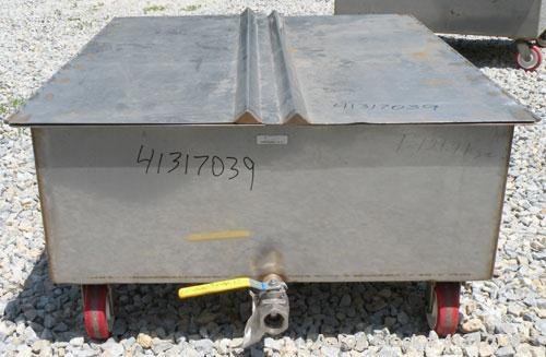 Used- 120 Gallon Stainless Steel Walker Stainless Tank, Model SP-7144, 317