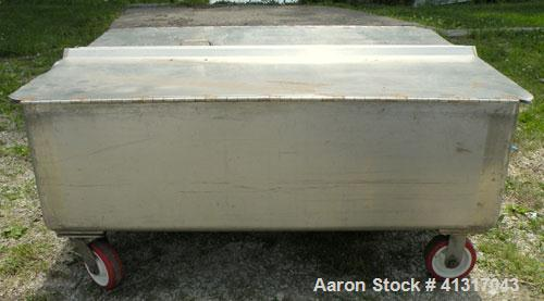 Used- 120 Gallon Stainless Steel Walker Stainless Tank, Model SP-7144, 319