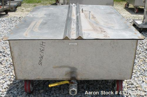 Used- 120 Gallon Stainless Steel Walker Stainless Tank, Model SP-7144, 321