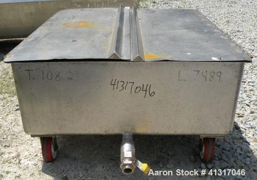 Used- 120 Gallon Stainless Steel Walker Stainless Tank, Model SP-7144, 322