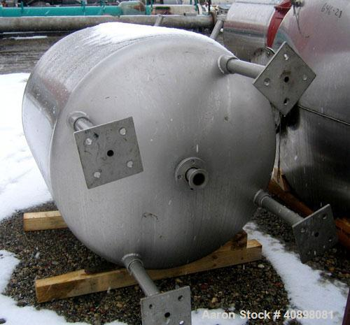 "Used- Walker Stainless Pressure Tank, 300 Gallon, 316L Stainless Steel, Vertical. 45"" diameter x 43"" straight side, dish top..."