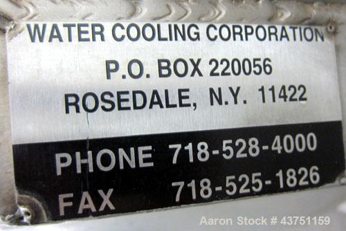 """Used- Water Cooling Corporation Tank, 100 Gallon, 304 Stainless Steel, Vertical. Approximately 31"""" diameter x 34"""" straight s..."""