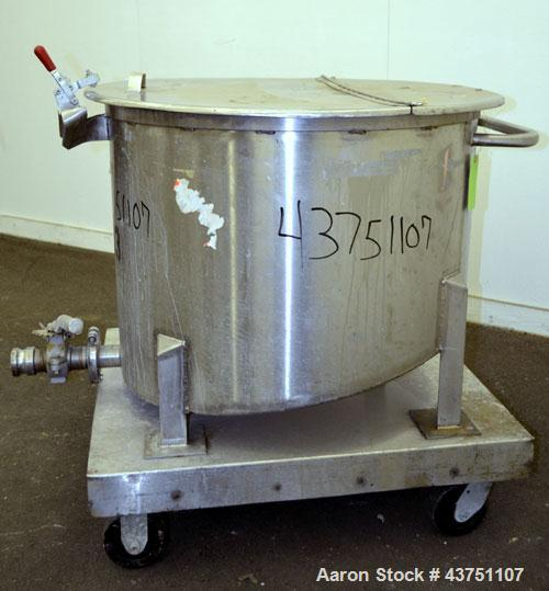 "Used- Water Cooling Corporation Tank, 60 Gallon, 304 Stainless Steel, Vertical. Approximately 30-1/2"" diameter x 21"" straigh..."