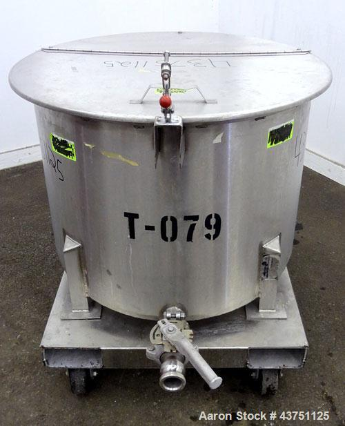 """Used- Water Cooling Corporation Tank, 60 Gallons, 304 Stainless Steel, Vertical. Approximately 30-1/2"""" diameter x 21"""" straig..."""