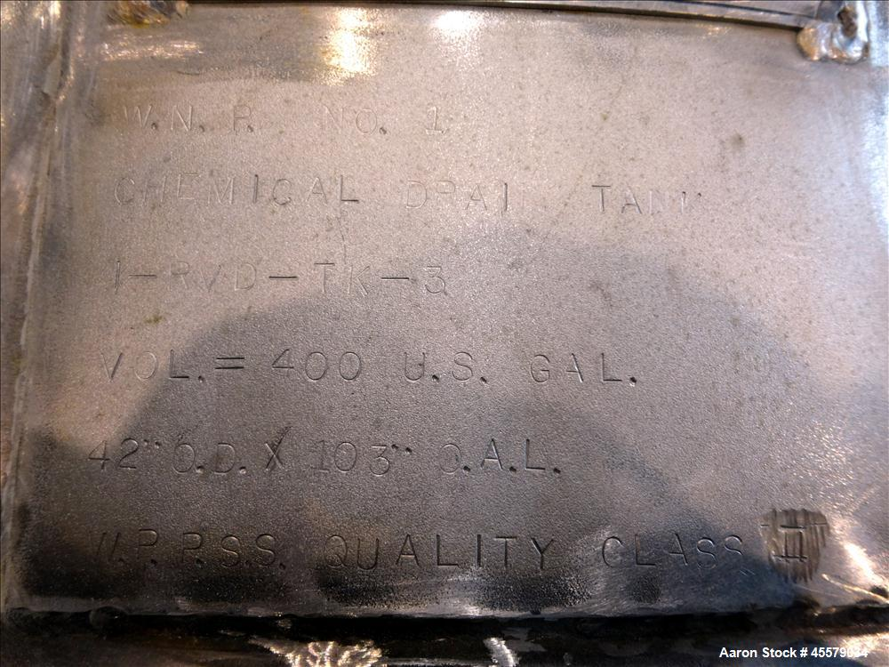 Unused- Welk Brothers Metal Production Tank,  Approximately 500 Gallon