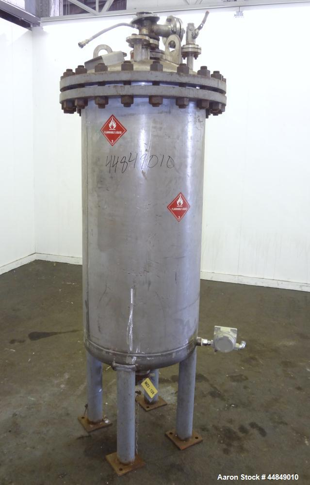 Used- 100 Gallon Stainless Steel Whiting Metals Pressure Tank