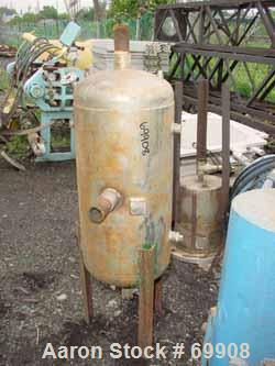 """USED: Wood Industries pressure tank, 25 gallon, stainless steel, vertical. 16"""" diameter x 28"""" straight side, dish top and bo..."""