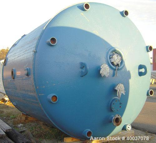 "Used: Buckley Iron Works pressure tank,1400 gallon, 304 stainless steel, vertical. 72"" diameter x 72"" straight side, dished ..."