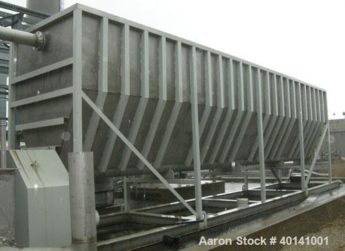 Used: Moon Fabricators 316 stainless steel tank, rectangular, with bottom screw conveyor discharge. Year 2000, serial #B-802...