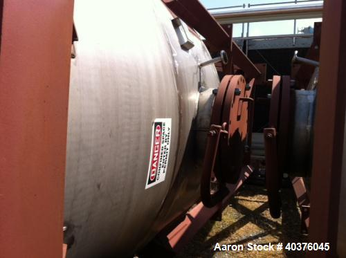 4200 Gallon Stainless Steel Vertical Tank.