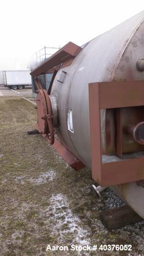"""Unused- 4200 Gallon, 316 Stainless Steel, Vertical Tank. 9' Diameter x 8' straight side. Design pressure -5"""" WC to +10"""" WC. ..."""