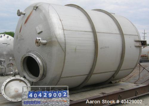 "Used- Northland Stainless pressure tank, 4800 gallon, 316 stainless steel, vertical. 101 1/2"" diameter x  10'7"" straight sid..."