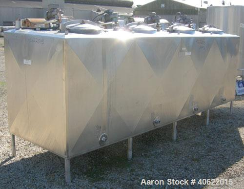 "Used- Cherry Burrell 4 compartment tank, approximately 350 gallons each, 304 stainless steel.  Each compartment measures 39""..."
