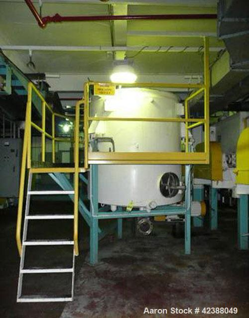 """Used- Stainless Steel Tank Approx. 72""""H X 68"""" Dia. On Load Cells With Kistler-Morse 1000 Dro & Steel Platform"""