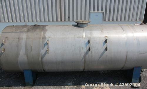 """Used- Tank, 4900 Gallon, 304 Stainless Steel, Horizontal. 78"""" Diameter x 240"""" straight side, flat ends. Openings: top (2) 2-..."""