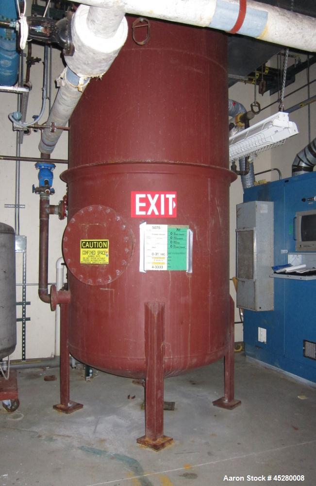 Used- 1,500 Gallon Carbon Steel Koven Tank
