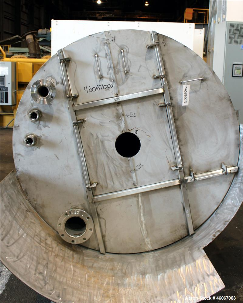 """Used- Dispersion Tank, Approximately 1000 Gallon, 304 Stainless steel, Vertical. Approximately 66"""" diameter x 60"""" straight s..."""