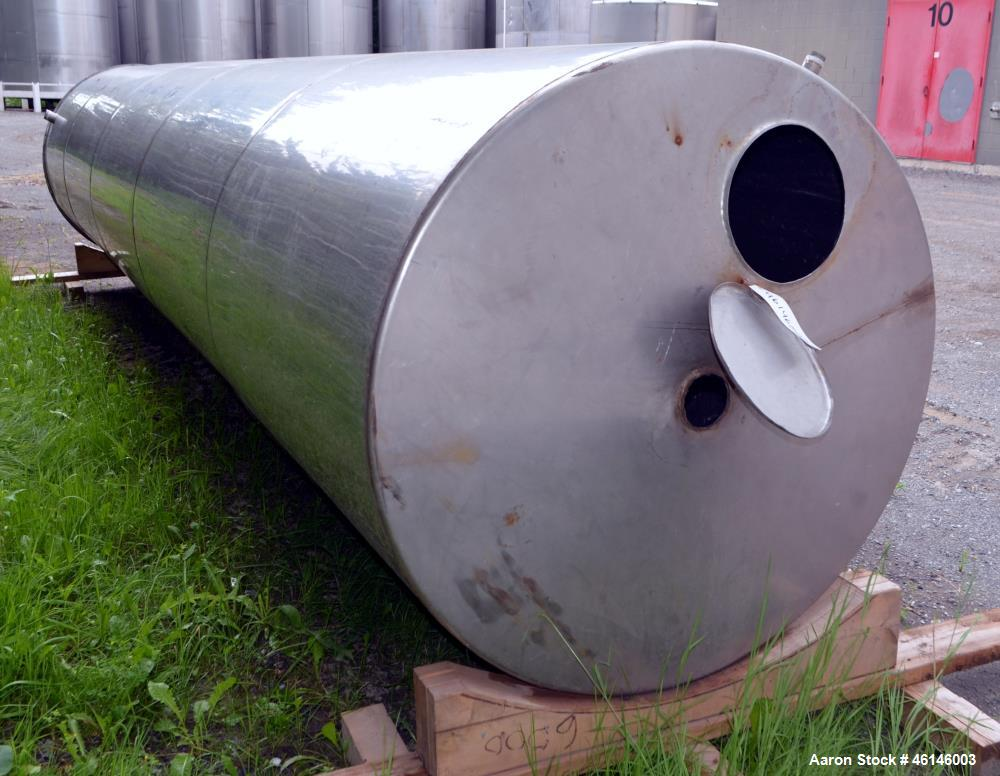 Tank, Approximate 1800 Gallon, Stainless Steel, Vertical.