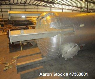 """Unused- Burkes Mechanical Tank, 3,825 Gallon. 304L stainless steel. 6' diameter x 15' 10"""" high, vertical, dished heads. Inte..."""