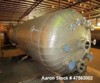 "Unused- Tank, 2,150 Gallon. 304L stainless steel. 6 diameter x 7 11"" high, vertical, dished heads. Internal rated 45 psig - ..."