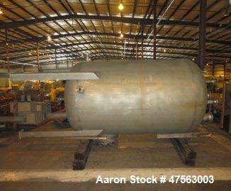 """Unused- Tank, 2,150 Gallon, 304L stainless steel. 6 diameter x 7 11"""" high, vertical, dished heads. Internal rated 45 psig - ..."""