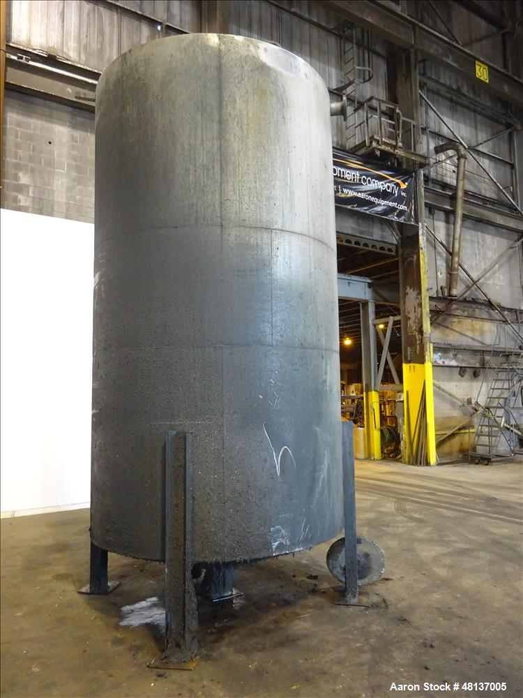"Used- Tank, 4,000 Gallon, 304 Stainless steel, Vertical. Approximate 88"" diameter x 155"" straight side, flat top, cone botto..."