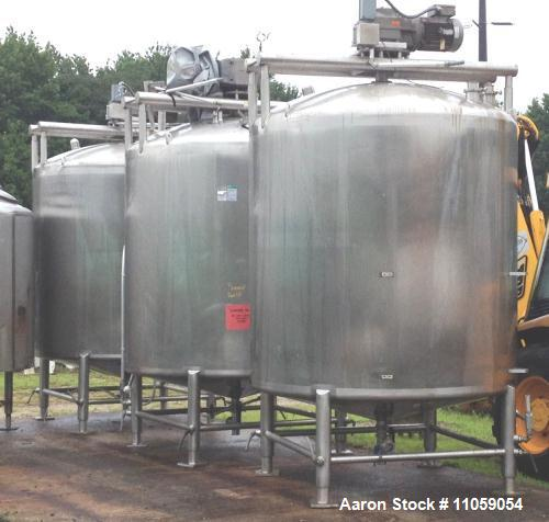2001 Gallon Stainless Steel APV Sanitary Construction Sweep Agitated Mix Tank