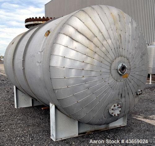 "Used- Arrow Tank & Engineering Pressure Tank, 4000 Gallons, 304L Stainless Steel, Horizontal. Approximate 84"" diameter x 149..."