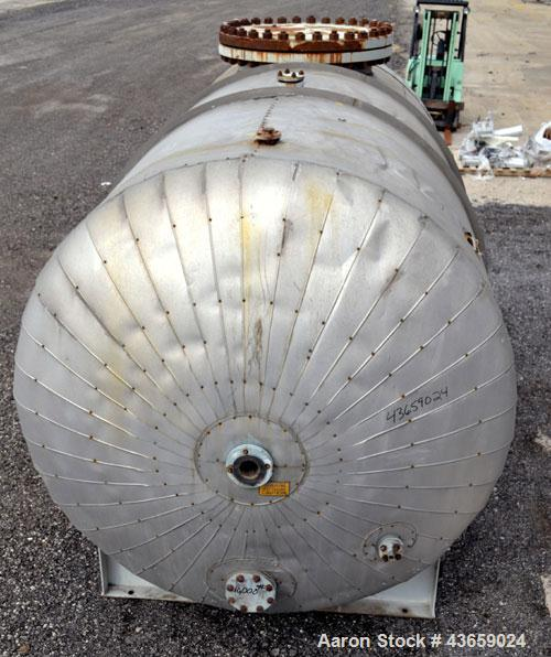 "Used- Arrow Tank & Engineering Pressure Tank, 4000 Gallons, 304L Stainless Steel, Horizontal. Approximate 84"" diameter x 149..."